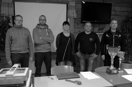 Hallitus: vasemmalta: Kalle Keränen, Perttu Alakorpi, Inga Keränen, Timo Suorsa ja Arto Sandberg. (Kuvasta puuttuu Antti Keränen) Kuva Eero Keränen