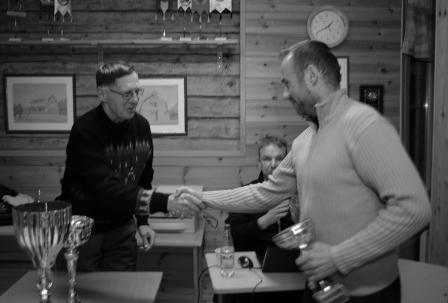 Petri Keränen hakemassa tohtorintuoppia viimeistä kertaa. Kuva Eero Keränen